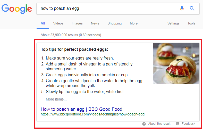 Exccerpt: Google's knowledge graph