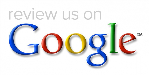 "An image that says ""Review us on Google"" with the Google logo underneath."