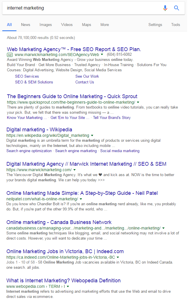 Page titles that do not contain an exact query match occupy most of the results in the search results page.