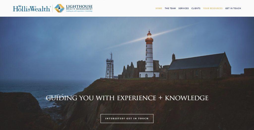 Screenshot of Lighthouse Wealth Management website